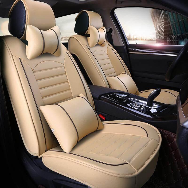 Car Seat Covers Set PU LeatherUniversal Auto 5 Full Bucket Anti