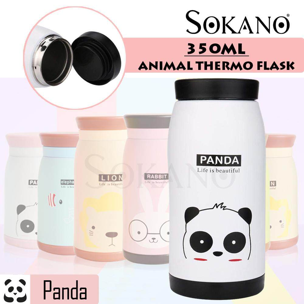 SOKANO 350ml TF004 Animals Stainless Steel Vacuum Flask Double Walll Leak Proof Beverage Thermos Bottle