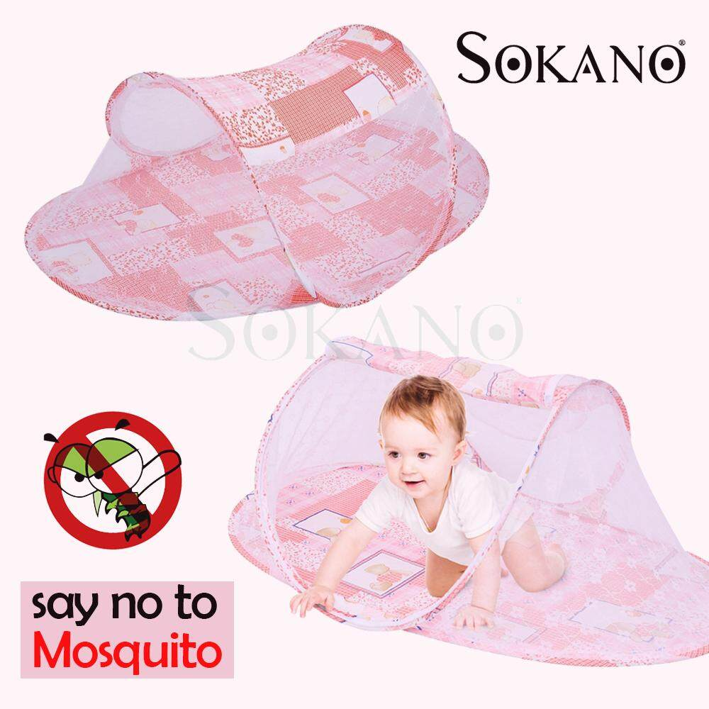 SOKANO Folding Baby Kids Mosquito Net Kelambu Khemah Tent Infant Mattress Mat Bed