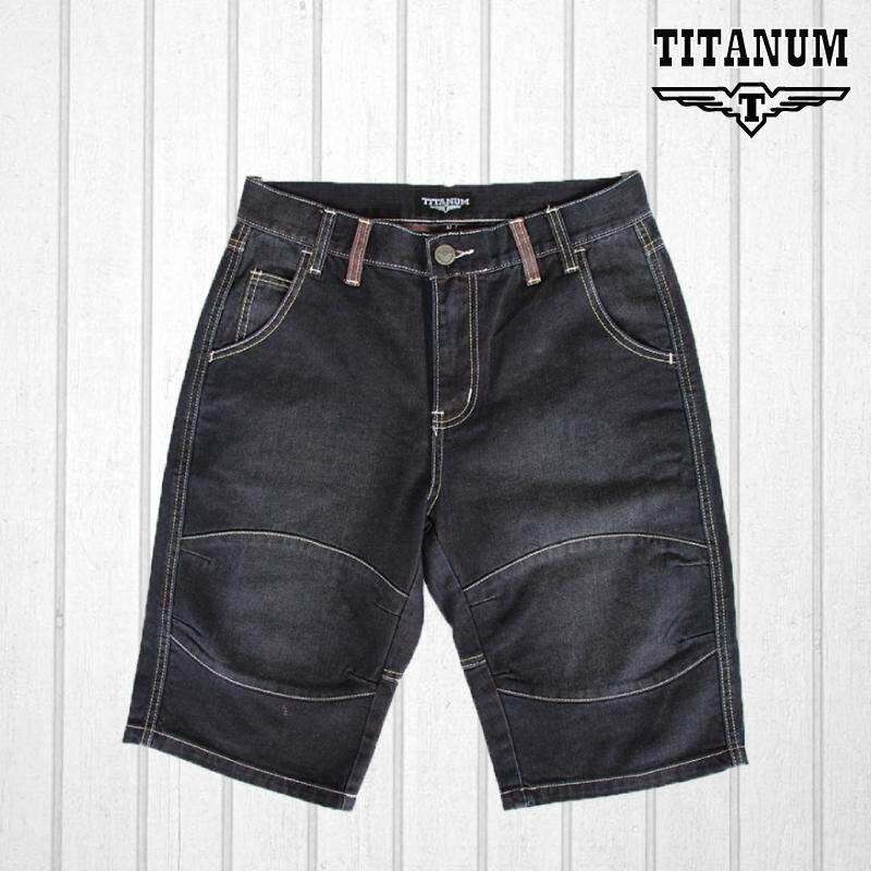 TITANUM BIG SIZE Fancy Short Blue Jeans TJSP502 (Blue)