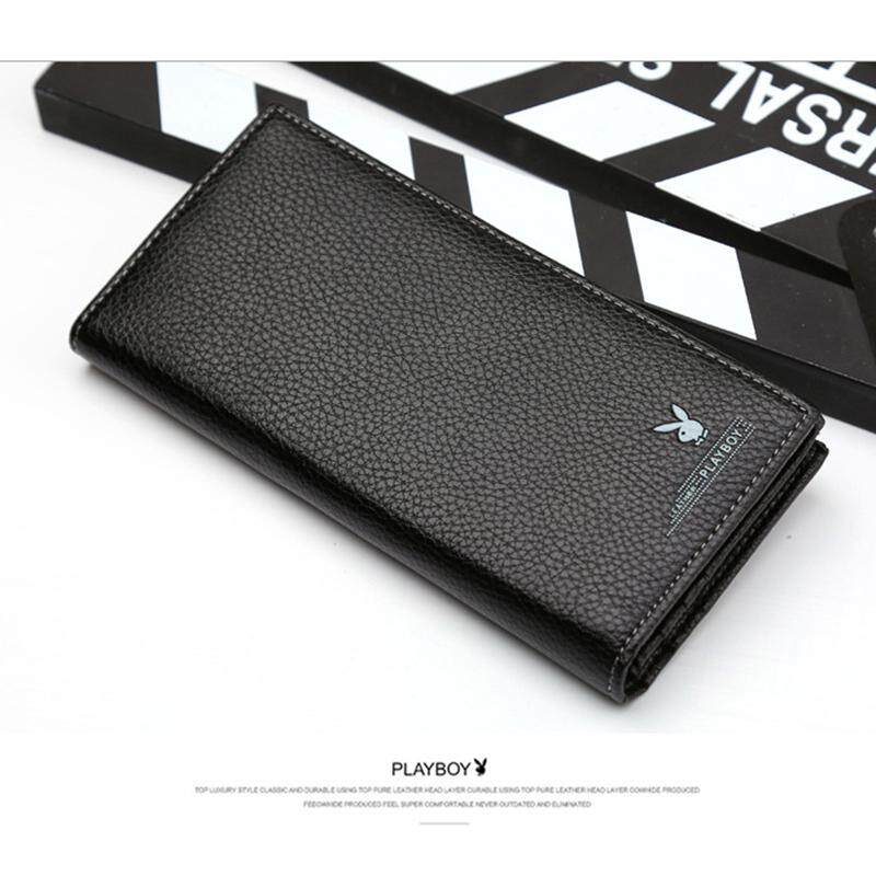 PLAYBOY LEATHER LONG WALLET WITH 11 CARD SLOTS +FREE GIFT! MI0701