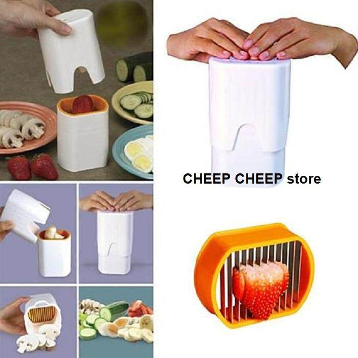 Speedy Slicer One Step Fruit & Veggie Slicer Compact Fast & Easy Cutter Chopper Shredder Kitchen Helper for Hard Boiled Eggs Cheese Fruits Vegetable Mushroom