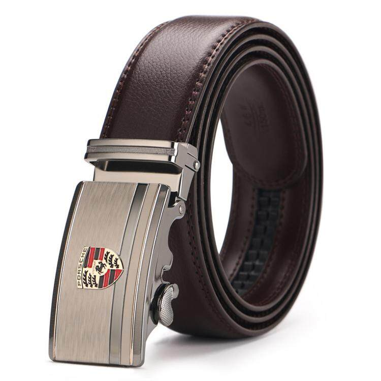 Doulilu Men Leather Belt Premium Quality Smooth Automatic Buckle Tali Pinggang Waist Belt 263 -MI2632
