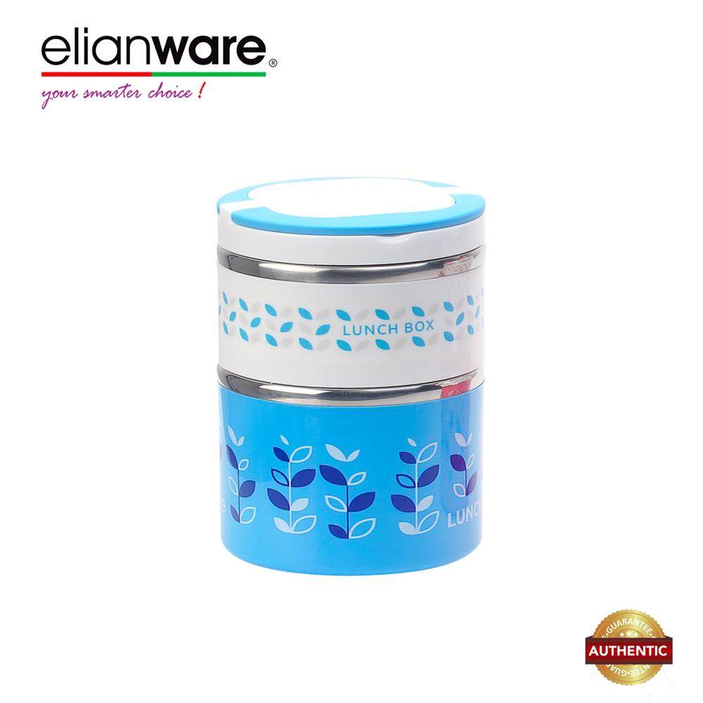 Elianware 1300ml S304 Stainless Steel BPA Free Large Dual Layer Food Container Thermal Lunch Box