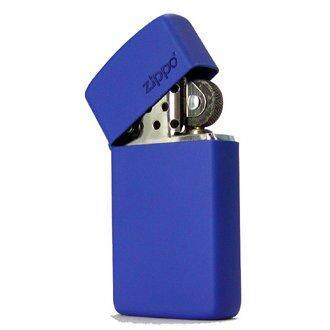 Zippo 1630ZL Slim Royal Blue Matte with Zippo Logo