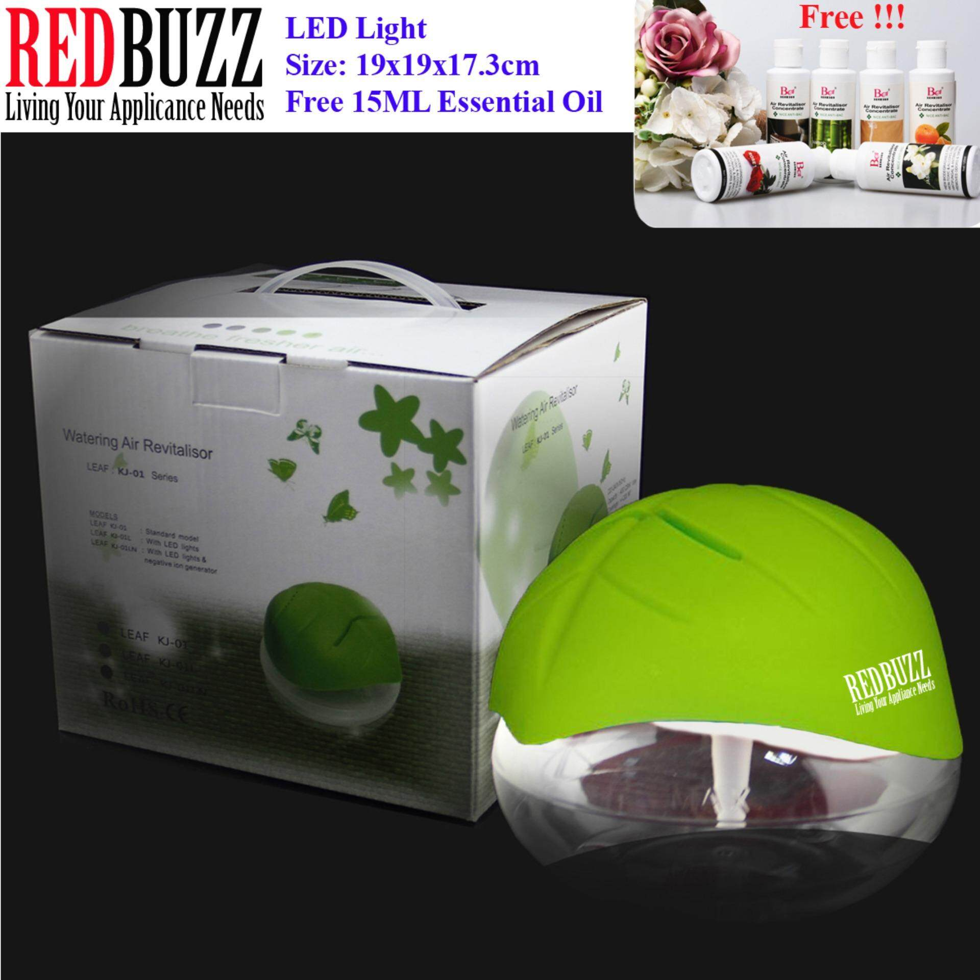 REDBUZZ Watering Air Revitalisor Fresh Air Purifier Aroma Diffuser with LED light + Free 15ML Essential Oil (Green Color)