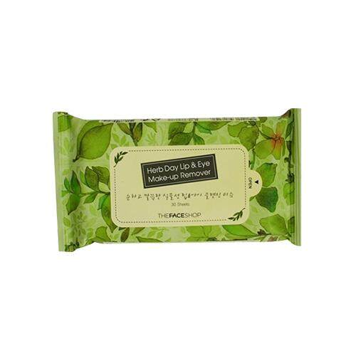 THE FACE SHOP Herb Day Lip & Eye Makeup Remover Pads 30s