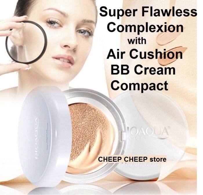 Bioaqua Snow BB Cream Air Cushion SPF50 Extreme Bare Make Up Complete Coverage Compact Foundation (NATURAL) 15g REFILL