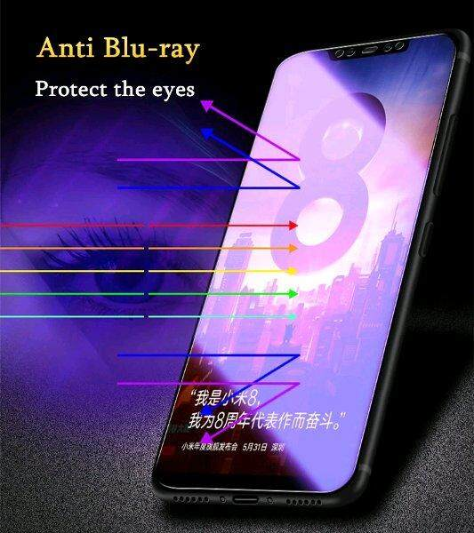 Tempered Glass for Xiaomi Mi 8 Lite / Youth Edition - 2.5D Curve Screen Protector [Anti-Blue]
