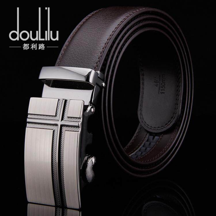 Doulilu Men Leather Belt Premium Quality Smooth Automatic Buckle Tali Pinggang Waist Belt 258 -MI2582