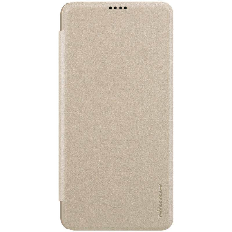 Nillkin Leather Case Sparkle Series Super Thin Flip Cover for Xiaomi Mi 8 Lite / Youth Edition (Gray/Gold)