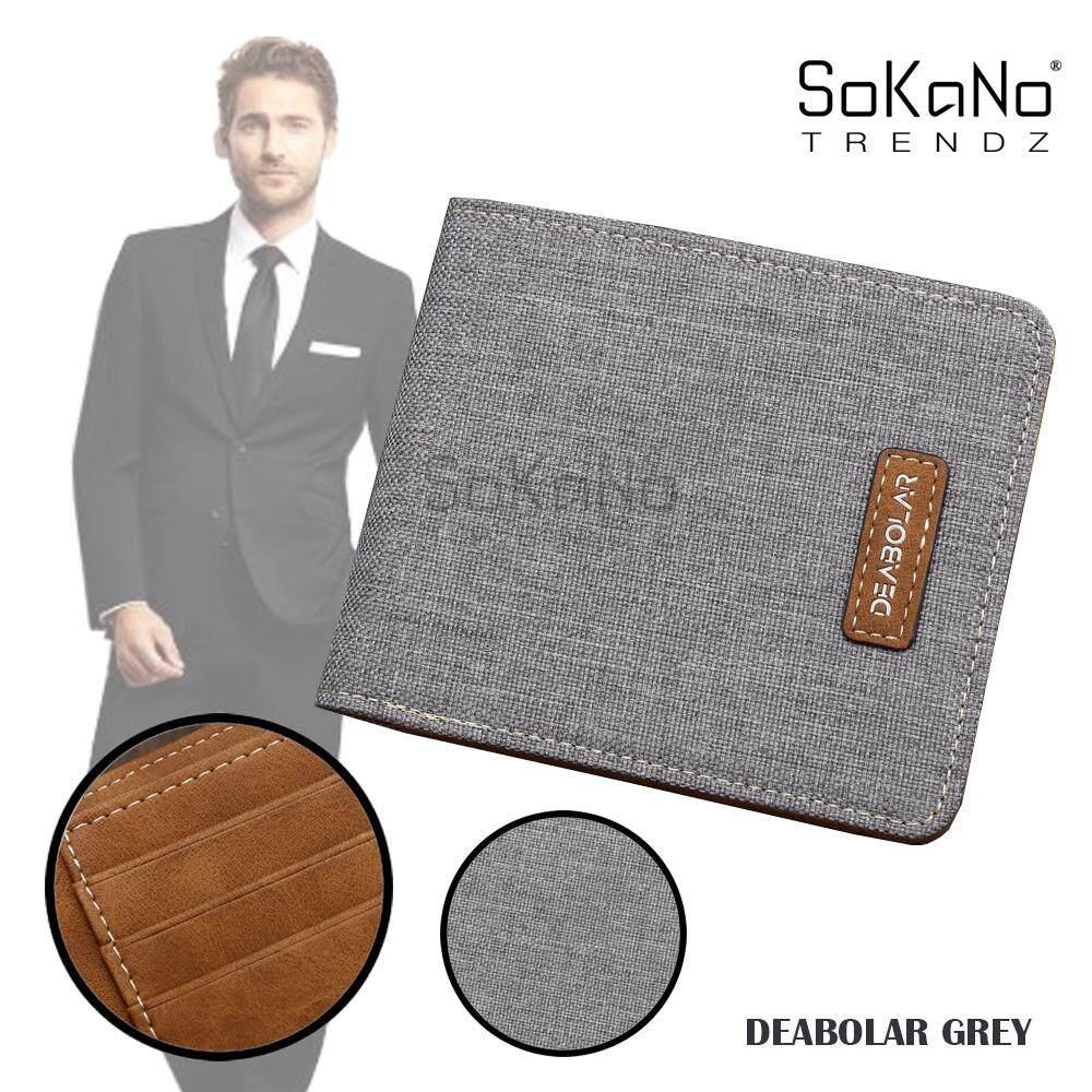 SoKaNo Trendz DEABOLAR Best Gift Classical Bifold Men Wallet Thin Wallet Lelaki