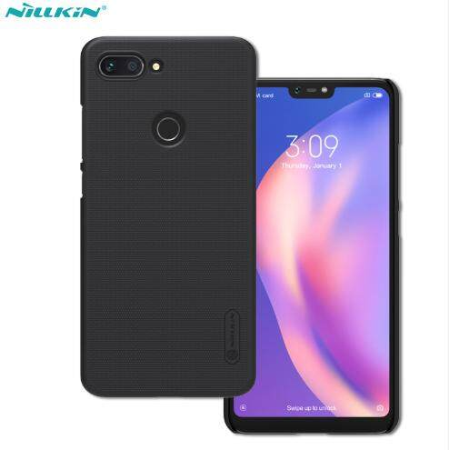 Nillkin PC Matte Super Frosted Shield Back Case for Xiaomi Mi 8 Lite / Youth Edition (Black/Gold)