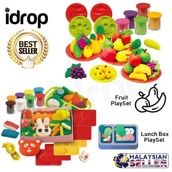 idrop Kids Children Plasticine Play Clay Toy Set For Toy Fruit & Lunch Box Playset -