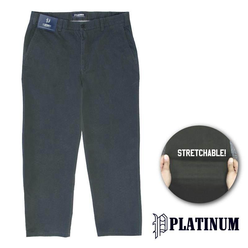 PLATINUM BIG SIZE Stretchable Fine Cotton PM653 (Dark Grey)