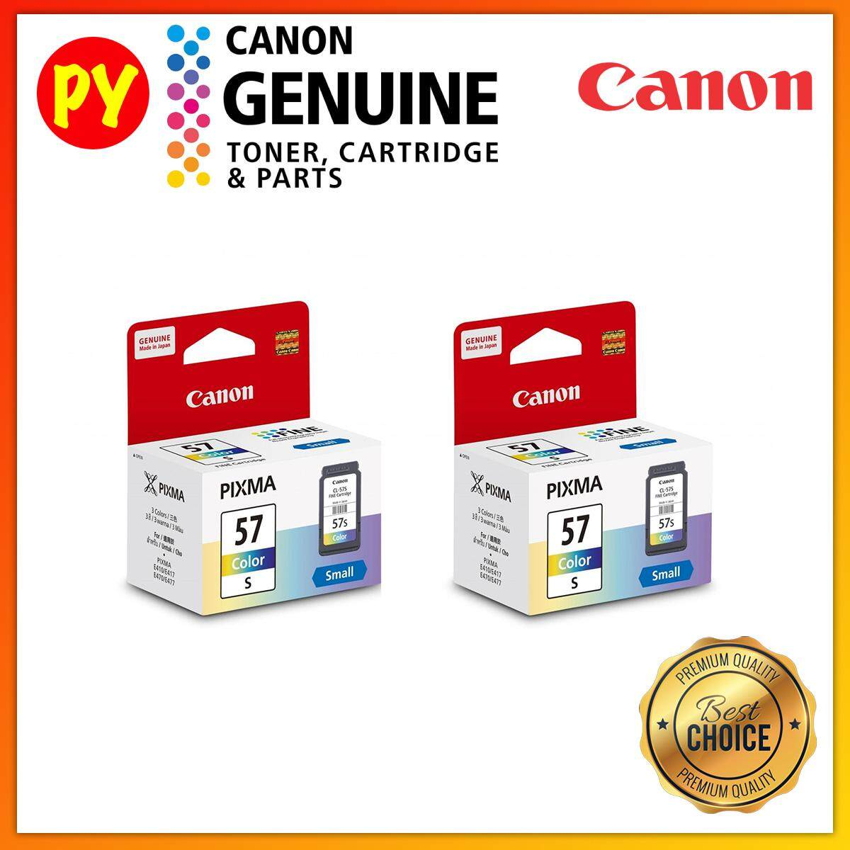 Canon CL-57s Original Color Ink Cartridge Twin (X2) Pack