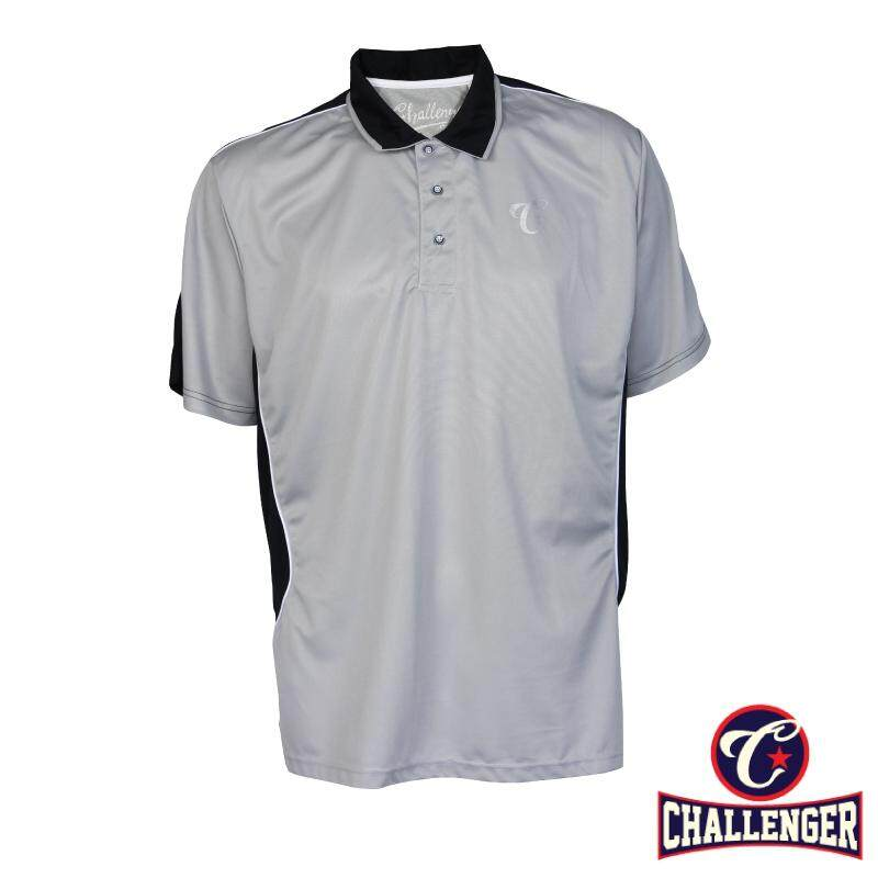 CHALLENGER BIG SIZE Cut & Sew Polo T-shirt CH2014 (Grey)