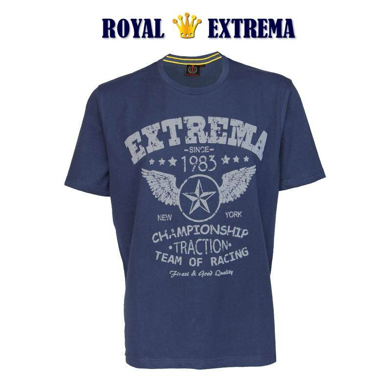 ROYAL EXTREMA BIG SIZE Printed T-shirt RE1005 (Blue)