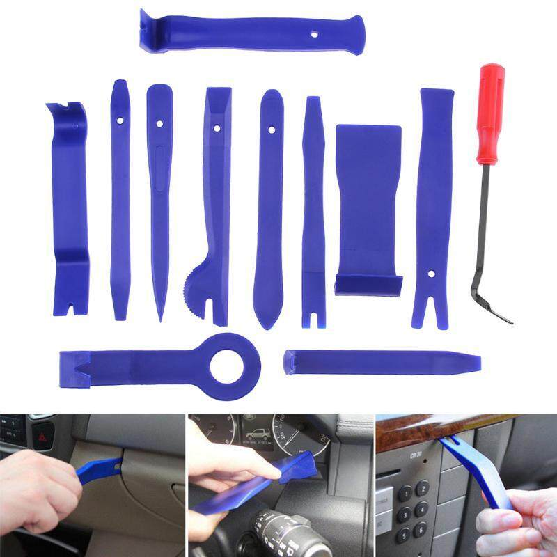 12pcs/set Car Panel Audio Stereo Gps Trim Moulding Remover Universal Clip Panel Screwdriver Repair Tool Kit Removal Open Tools - Intl By The First Store.