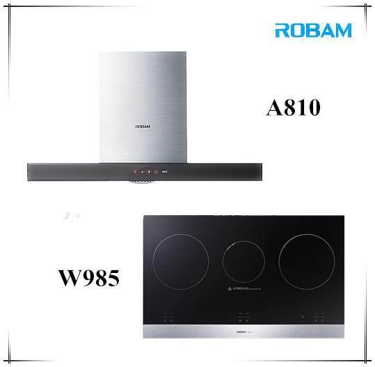 ROBAM A810 Chimney Hood +  W985 Electric Hob