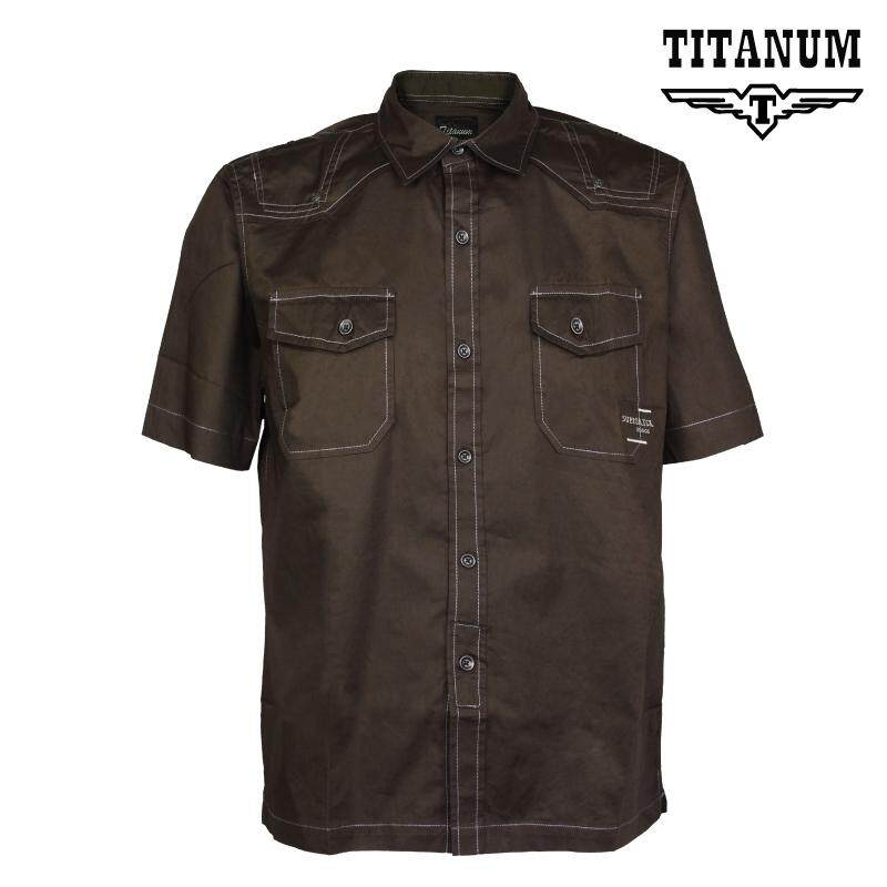 TITANUM BIG SIZE Plain Shirt TIMP8003 (Brown)