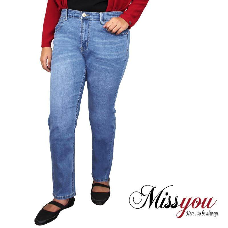 MISS YOU PLUS SIZE Regular Cut Denim 5 Pockets MYJ600004 (Blue)