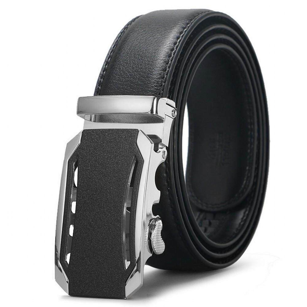 DOULILU Men Genuine Leather Automatic Buckle Waist Belt High Quality Durable Tali Pinggang -MI3401