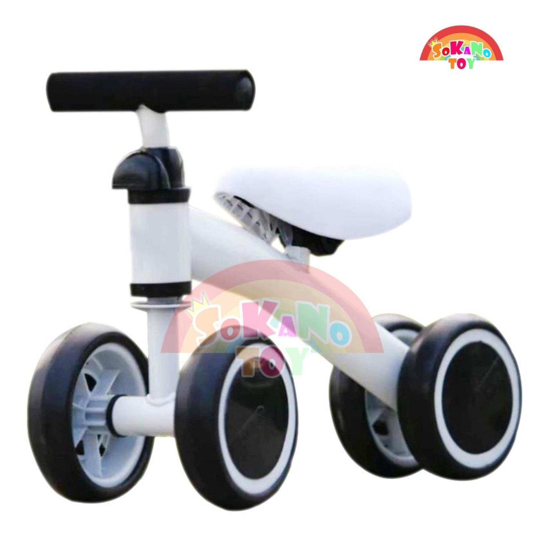 SOKANO TOY T004 Children Balance Bikes Scooter Baby Walker Infant 1-3 years Scooter- White Toys for boys