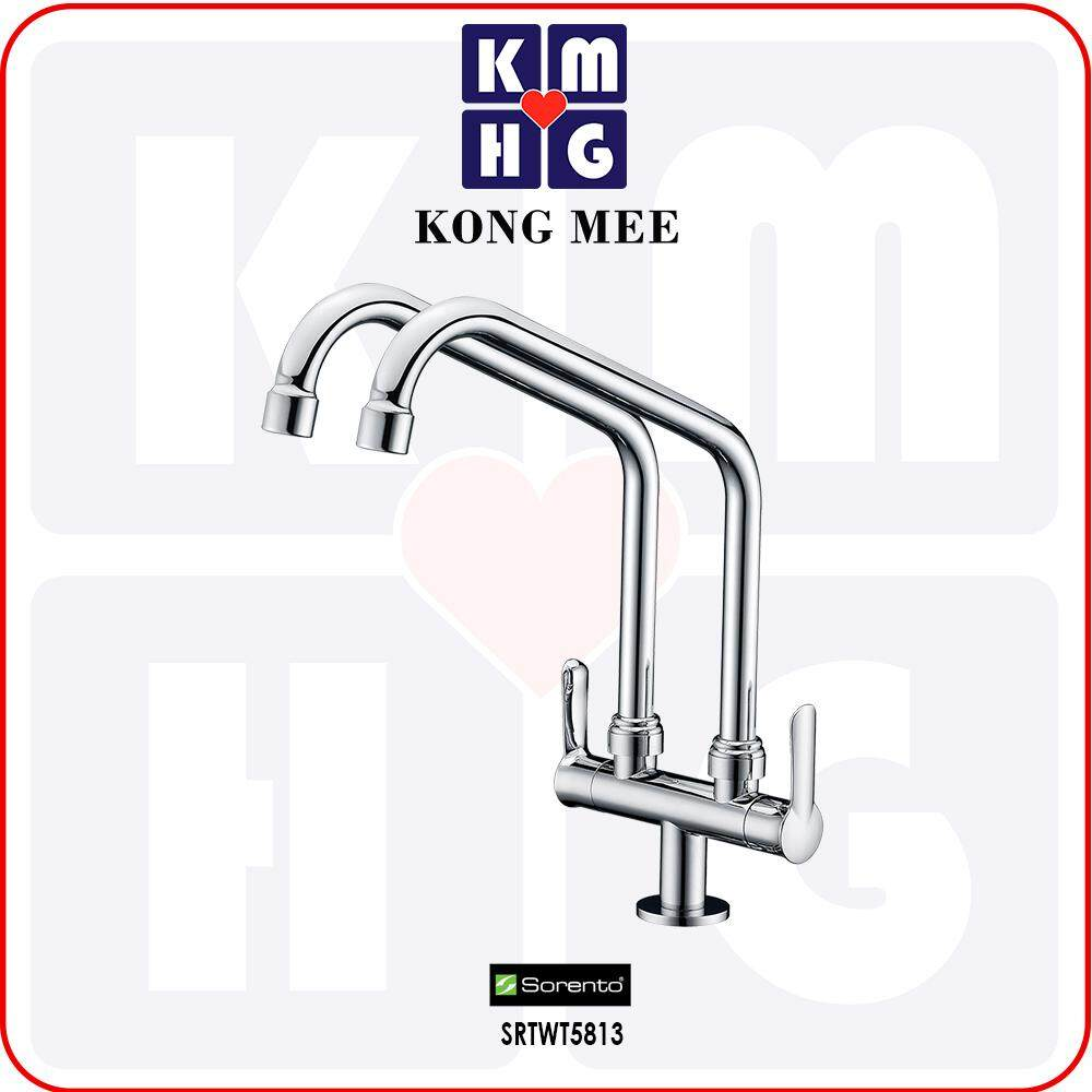 Sorento Italy - Wave 5800 Series Pillar Mounted Sink Tap (Counter-top Basin Faucet) (SRTWT5813) Kitchen Top Counter Restaurant Home Wash Dishes Water Soap Faucet Clean Pipe Food Cook Chef Premium Modern Luxury High Quality Long Lasting