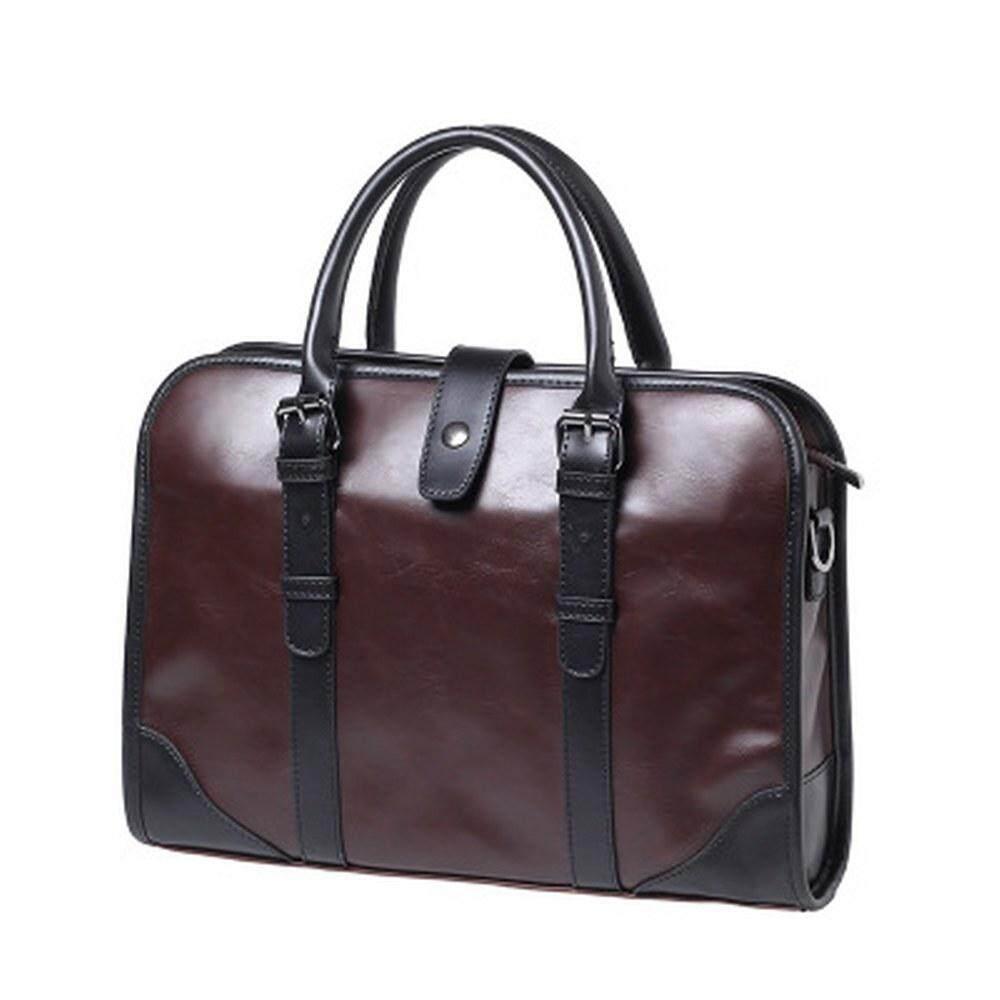 MV Bag Leather Hand Carry Messenger Beg Shoulder Fashion Sling Business Men Casual Travel 375 MI3751
