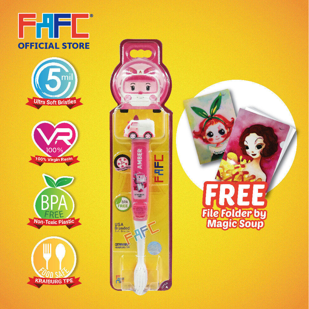 Amber - (1 Pcs) FAFC Poli Figurine Kids Toothbrush