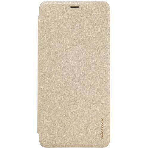 Nillkin Leather Case Sparkle Series Super Thin Flip Cover for Xiaomi Redmi 5 Plus/Note 5 (Grey/Gold)