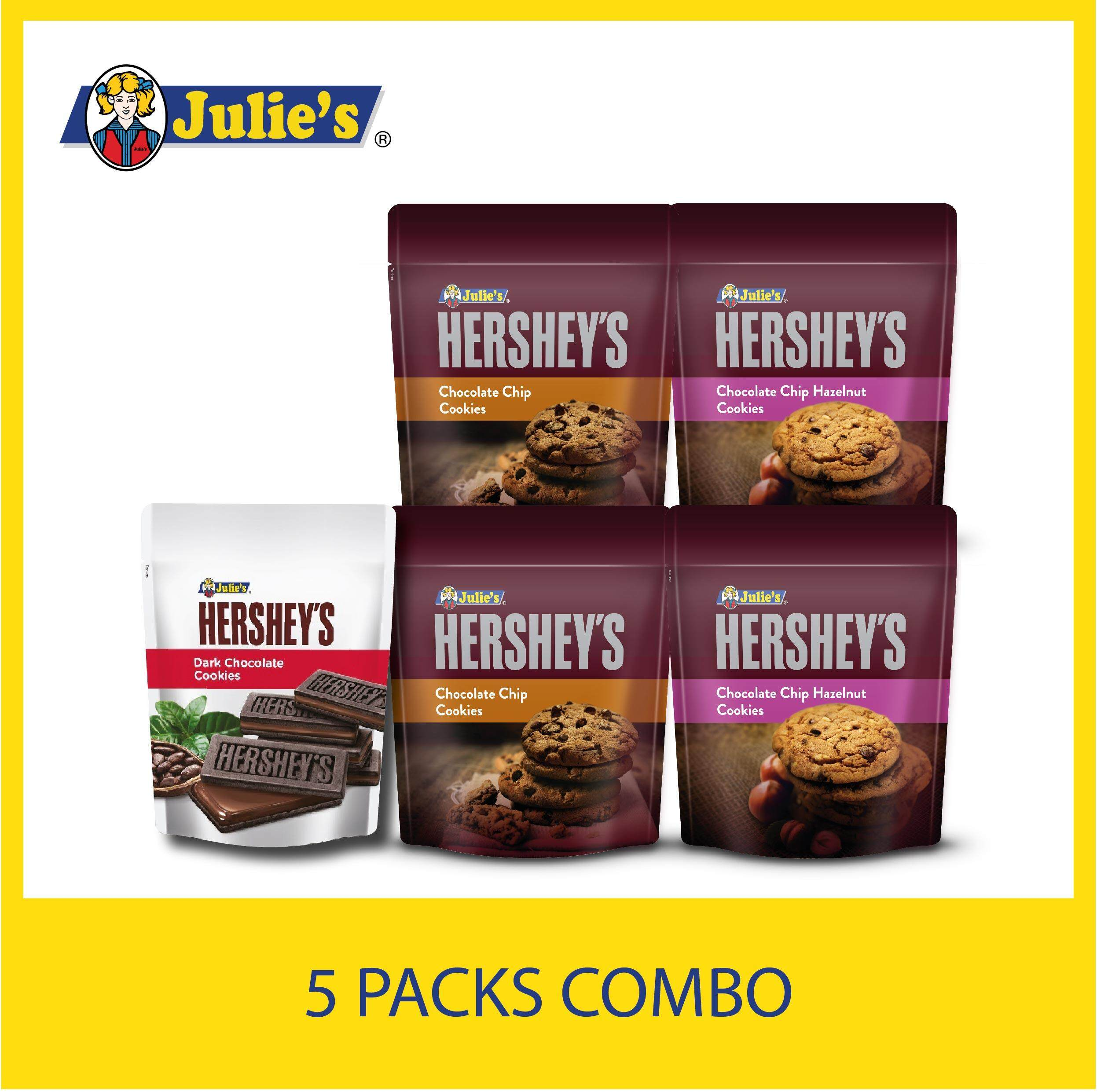 Julie's Hershey's Chocolate Cookies Lover + Free 5 pack Convi pack Biscuit