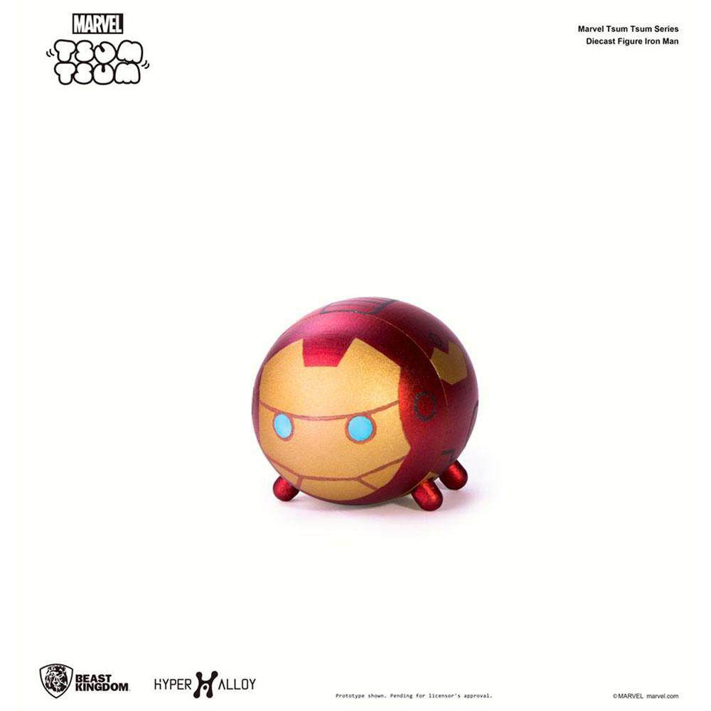 Beast Kingdom Marvel Tsum Tsum Series Diecast Figure - Hyper Alloy - Iron Man (HA-001) - Mainan Kanak Kanak Lelaki