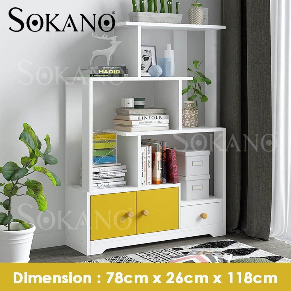 SOKANO A1752 Nordic Style Decorative Shelf Book Shelf Living Room Furniture Modern Rak Deco Rak Buku