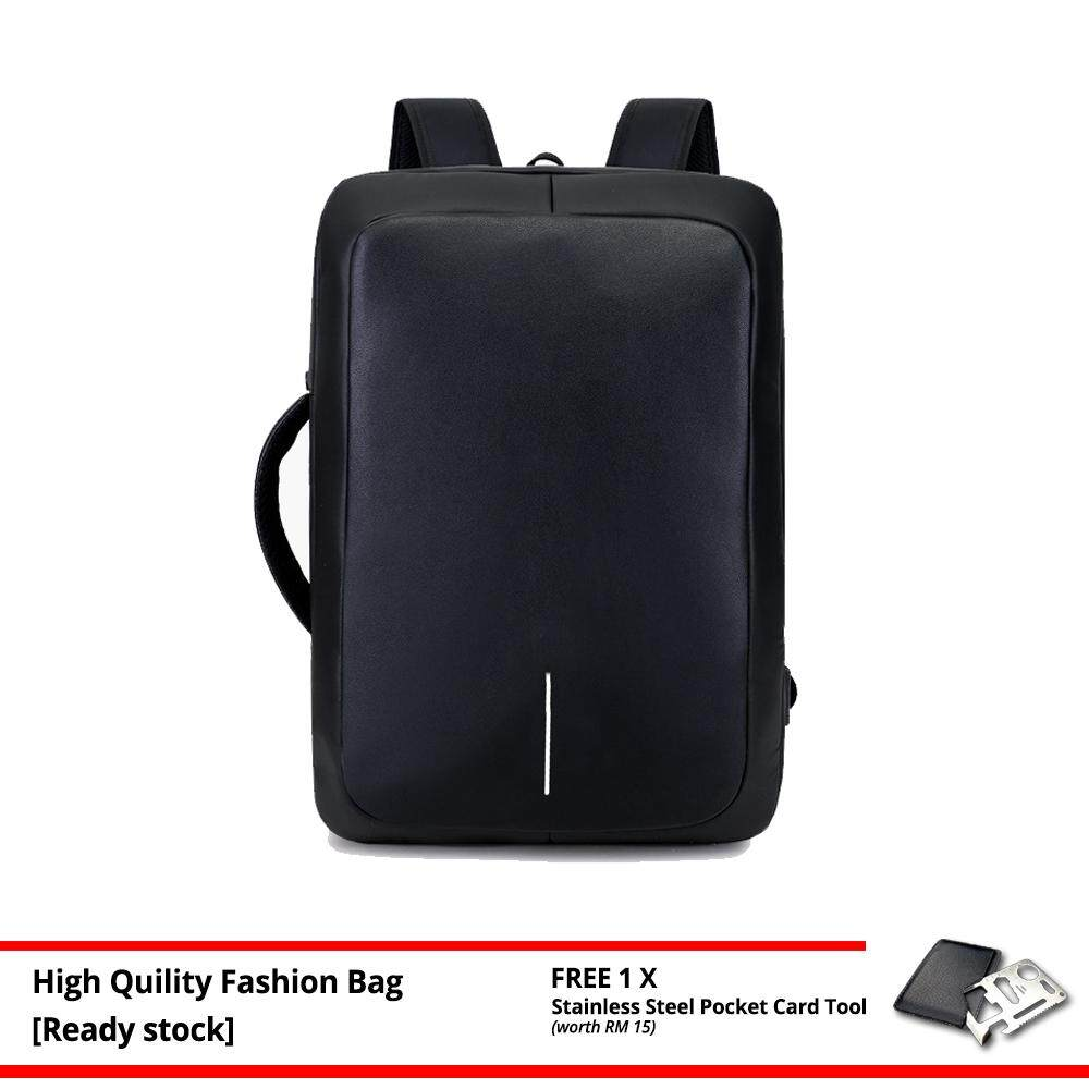 MV Bag Anti-Theft Dual Function Laptop Backpack Briefcase Casual Waterproof Beg MI4321