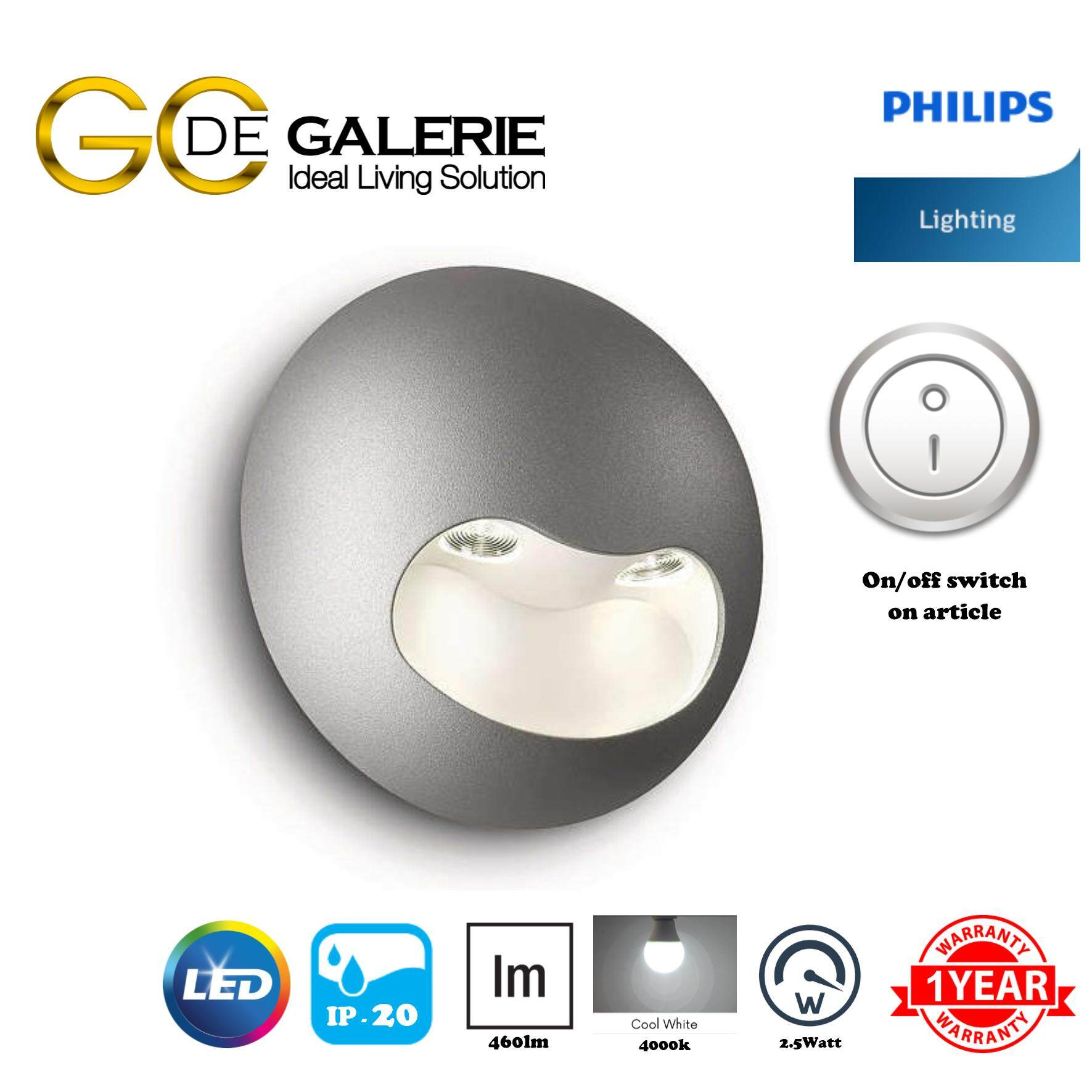 WALL LIGHT PHILIPS  LEDINO GEN2 69085/87 40K GY