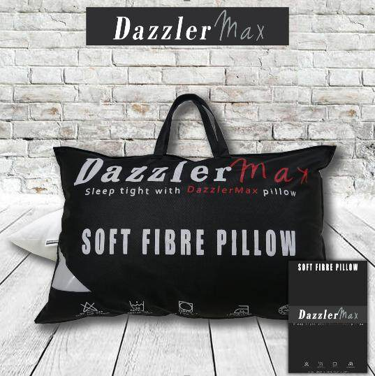 Dazzler Max Soft & Comfortable Polyester Fibre Five Star Bedding Good Quality Hotel Pillow Large Size 19''x29''