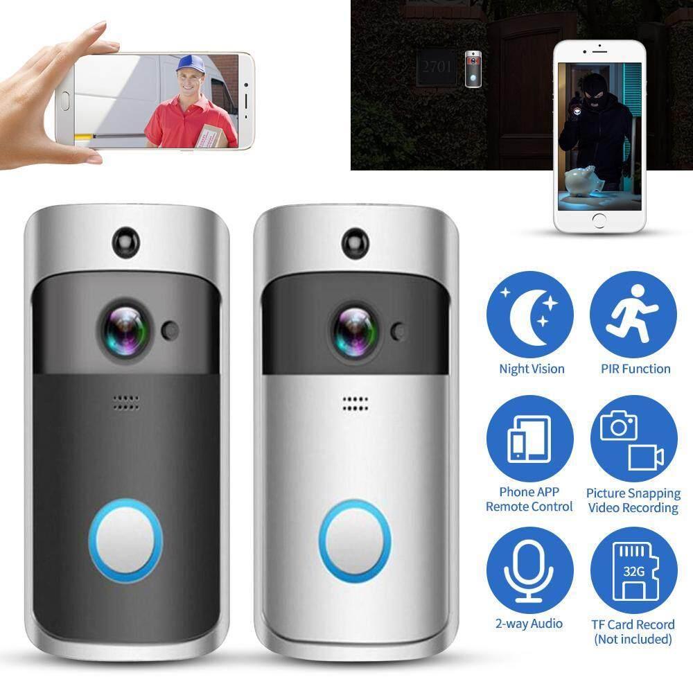 Video Thông Minh Chuông Cửa Có Pin 1080P FHD Wifi Không Dây Chống Trộm Thật Sự Dây-Giá Rẻ Camera Trong Nhà chuông + Miễn Phí Dịch Vụ Đám Mây + Cách Thảo Luận + Kính Nhìn Xuyên Đêm + Ứng Dụng Điều Khiển Dành Cho Điện Thoại Thông Minh