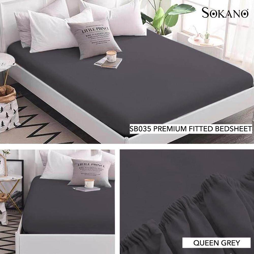 SOKANO SB035 PREMIUM FITTED BEDSHEET BED SHEET Cadar Tilam