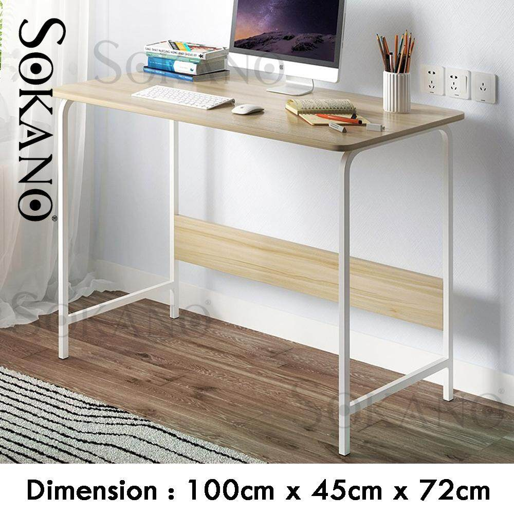SOKANO B2642B Home Office Desk Modern Desktop Wood Table Living Room Drawing Room Workstation Hotel Computer PC Desks Child Student Study Bedroom Laptop Table Desk