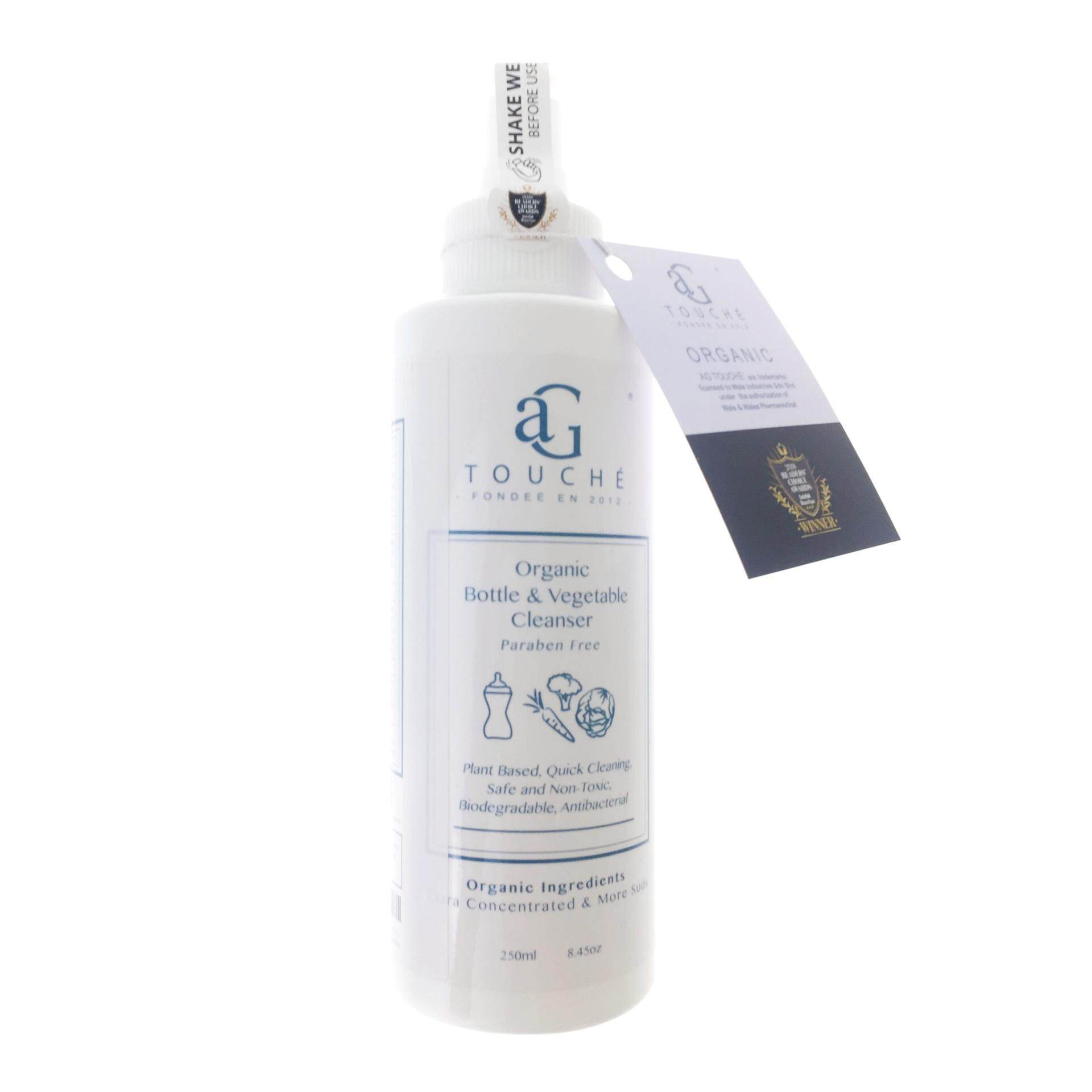 AG Touché Organic Bottle & Vegetable Cleanser 250ml & 1L