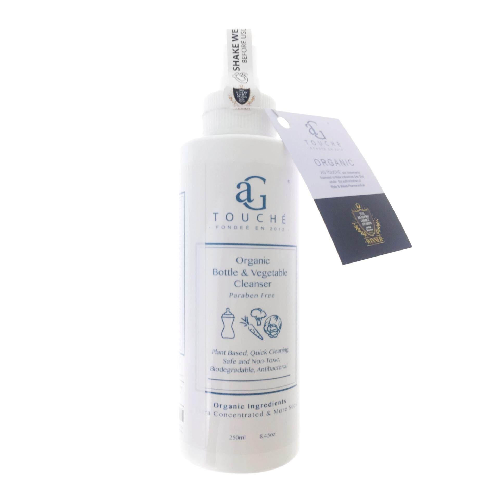 AG Touché Organic Bottle & Vegetable Cleanser 250ml & 1L