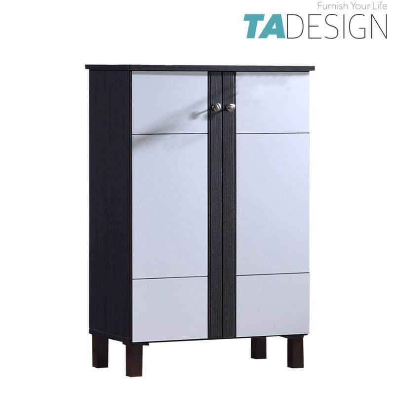 TAD DIONNE 2 door shoe rack cabinet - Black/White