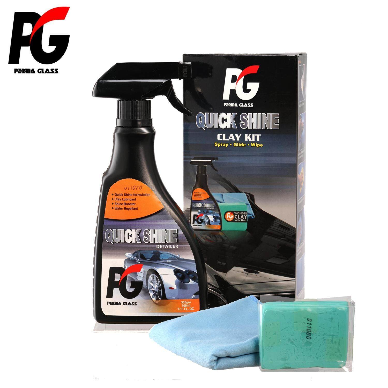 PG Perma Glass Quick Shine Clay Kit (500ml)(100gm Clay)