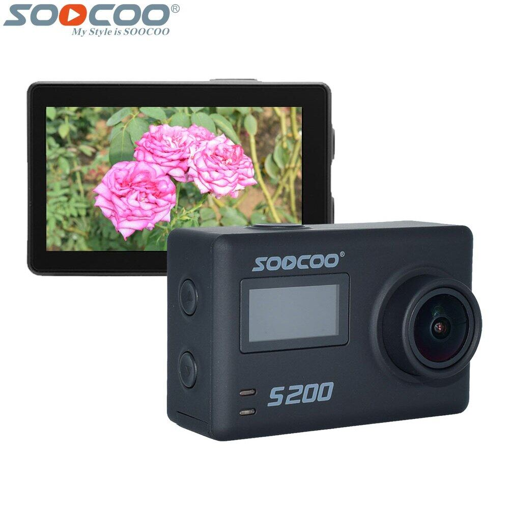 [FOC Battery] SOOCOO S200 Sports Action Camera Ultra HD 4K with WiFi Gryo Voice Control External Mic GPS 2.45 Touch LCD Screen