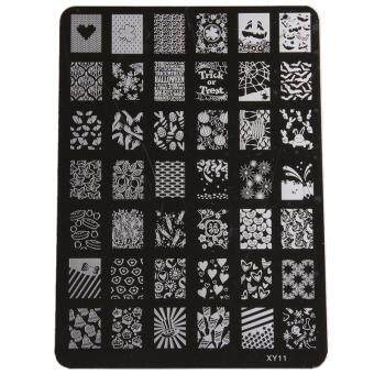 Ai Home Large Image Nail Art Stamping Stencil Print Metal SteelTemplate Beauty Tool (XY11)