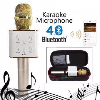 Q7 Portable Wireless Bluetooth Speaker Microphone Mic with Karaoke KTV Singing Stereo for Smartphones