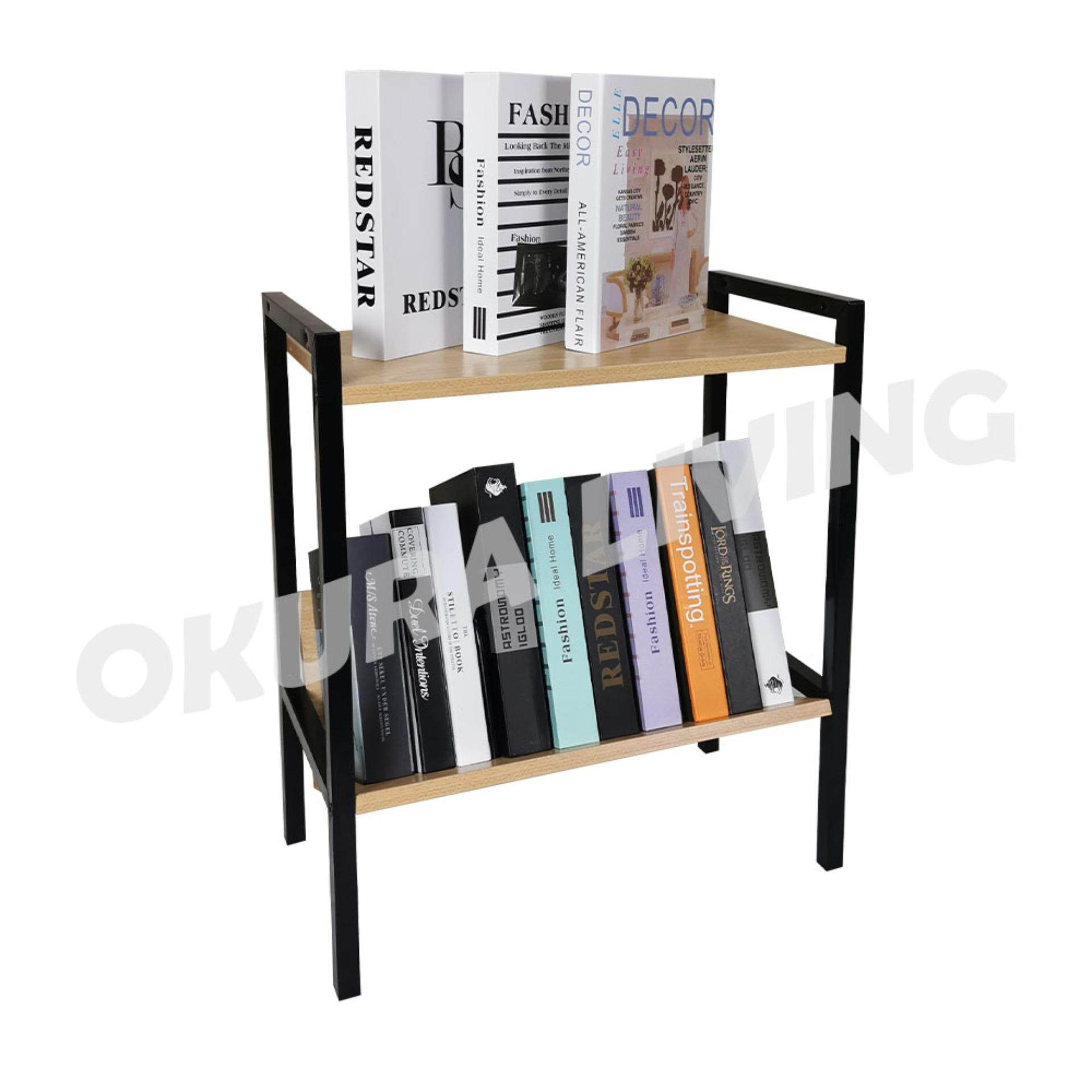 OKURA 2 Tier Multipurpose Book Shelf Home Office