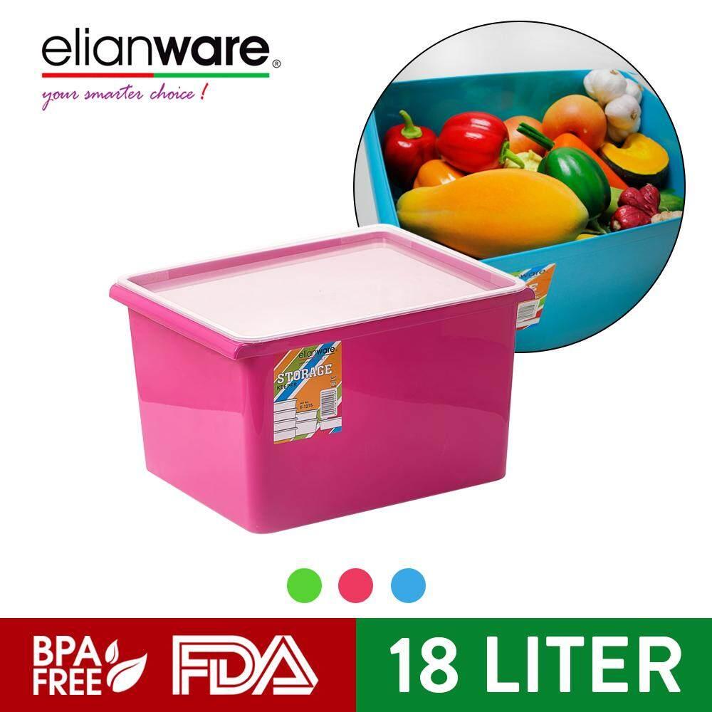 Elianware 18 Litre Blanket Clothes Transparent Cover Almari Storage Box Wardrobe Organizer